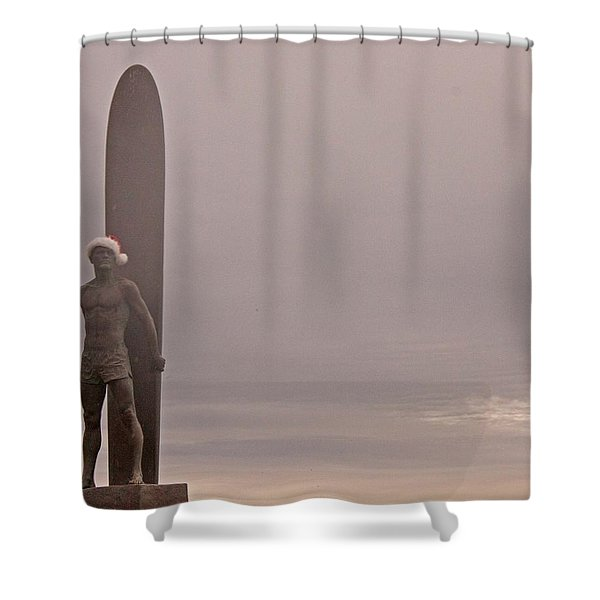 Santa Cruz Santa Surfer  Shower Curtain