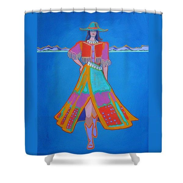 Santa Fe Girl  Shower Curtain