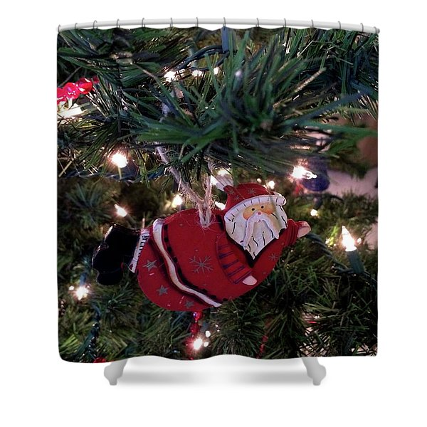 Santa Is Almost Here Shower Curtain