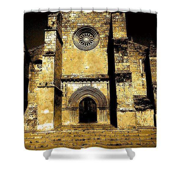 Santa Marina Church Shower Curtain