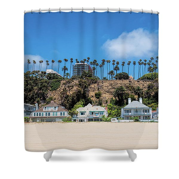 Santa Monica Beach Front Shower Curtain