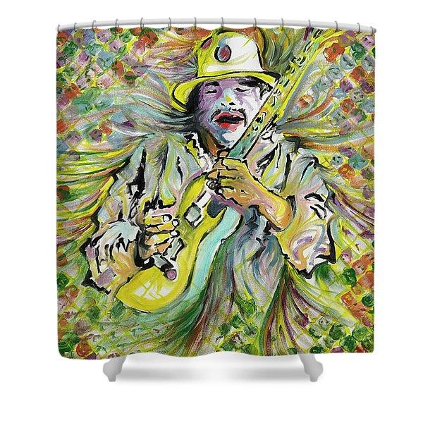 Santana's Sacred Fire Shower Curtain