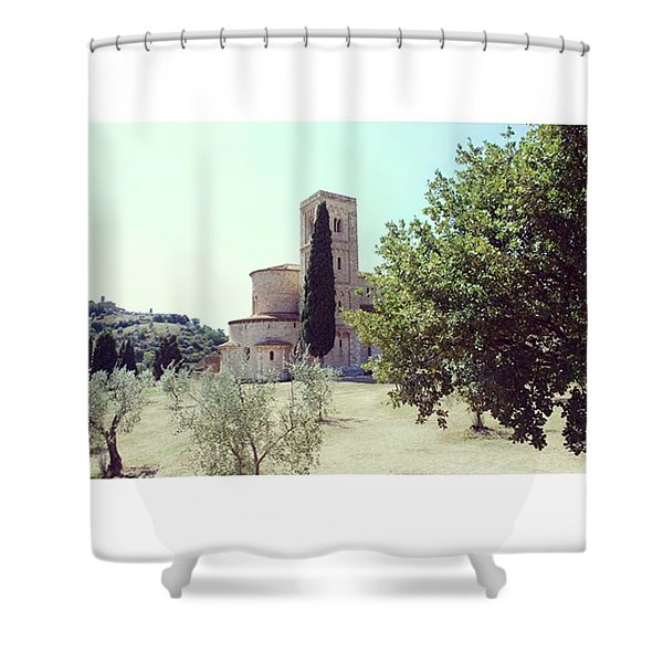 Abbey Of Sant'antimo Shower Curtain