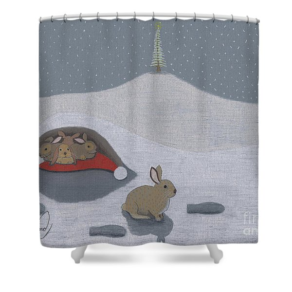Santa's Ultimate Gift Shower Curtain