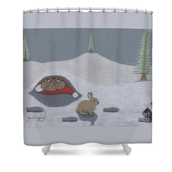 Santa's Ultimate Gift Shower Curtain