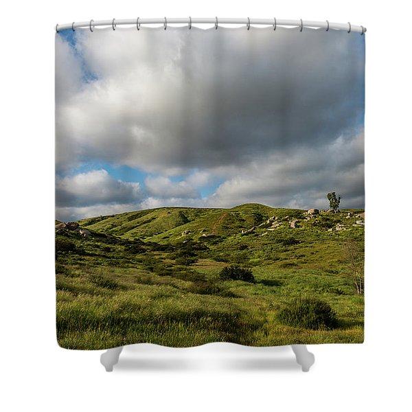 Santee Rocks Spring Shower Curtain
