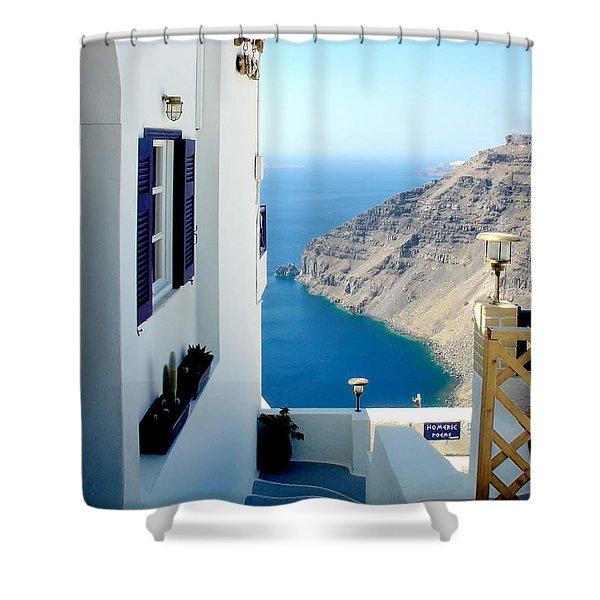 Santorini 2 Shower Curtain
