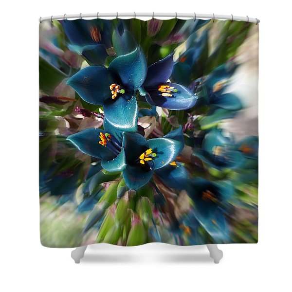 Saphire Tower Shower Curtain