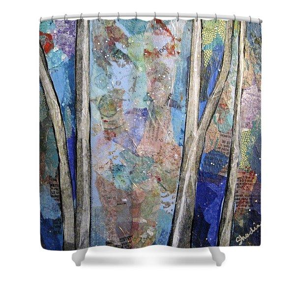 Sapphire Forest II Shower Curtain