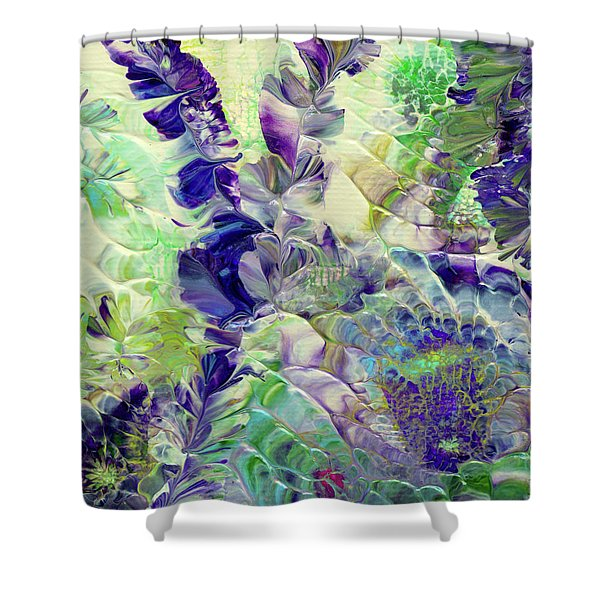 Sapphire Violet Shower Curtain