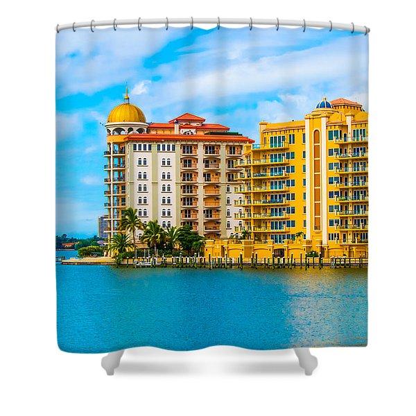 Sarasota Architecture Shower Curtain