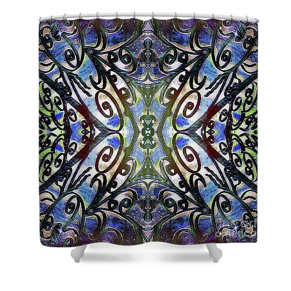 Sarasota Swirls Shower Curtain