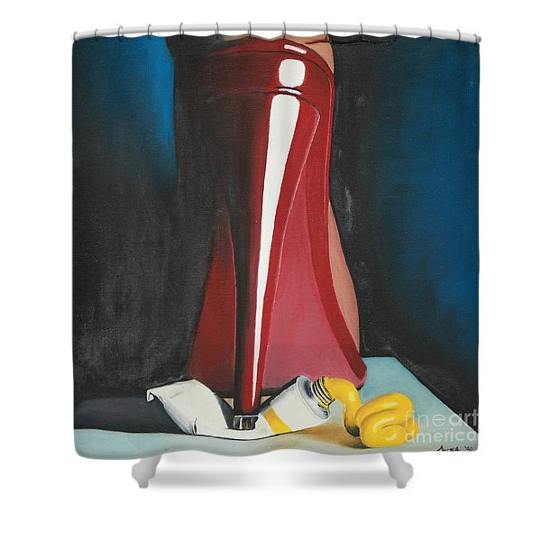 Sassy Shoe Shower Curtain