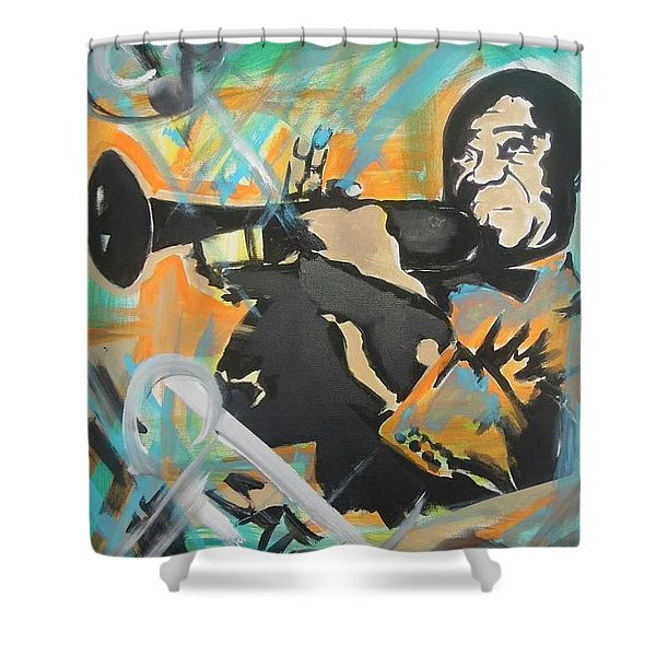 Satch Armstrong Shower Curtain