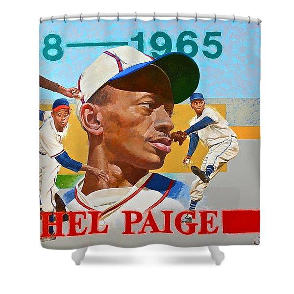Satchel Paige Shower Curtain
