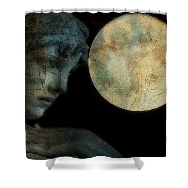 Satellite Of Love  Shower Curtain