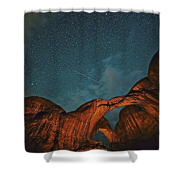 Satellites Crossing In The Night Shower Curtain
