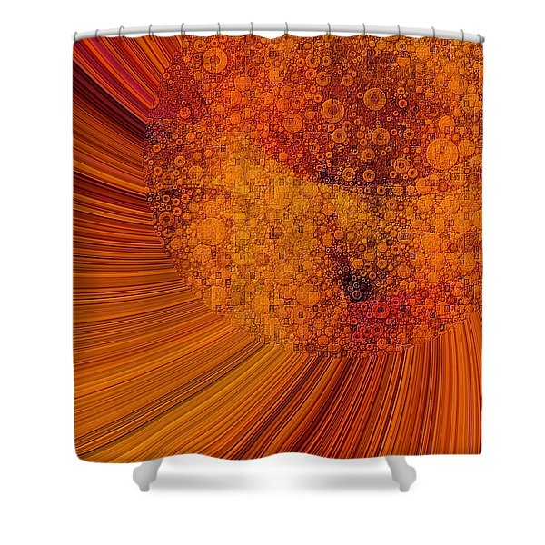 Saturated In Sun Rays Shower Curtain