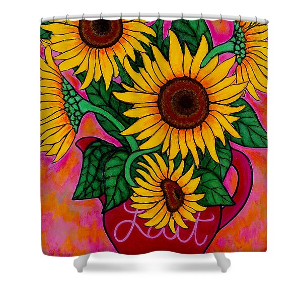 Saturday Morning Sunflowers Shower Curtain