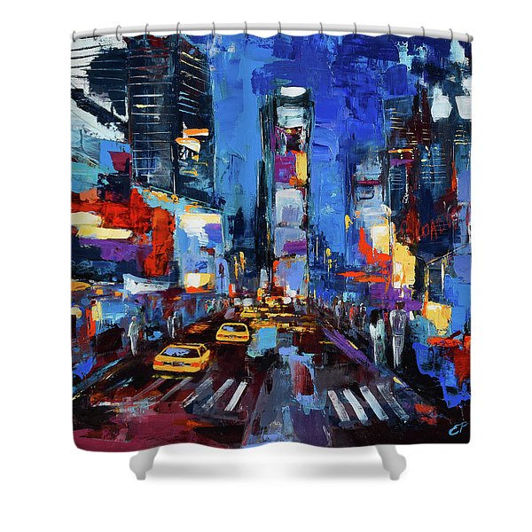 Saturday Night In Times Square Shower Curtain
