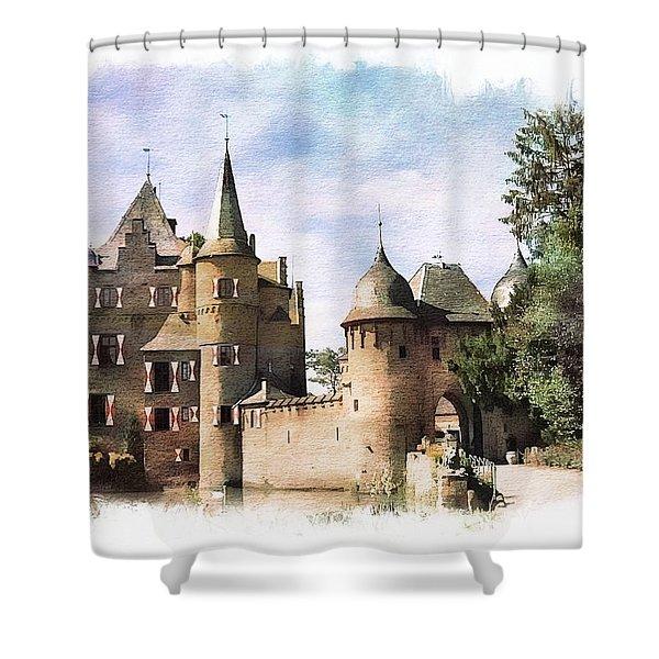 Satzvey Castle  Shower Curtain