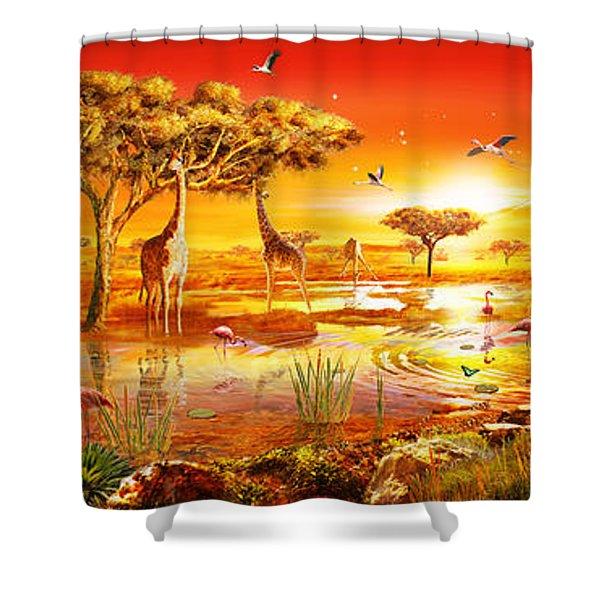 Savanna Sundown Shower Curtain