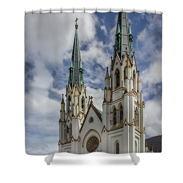 Savannah Historic Cathedral Shower Curtain
