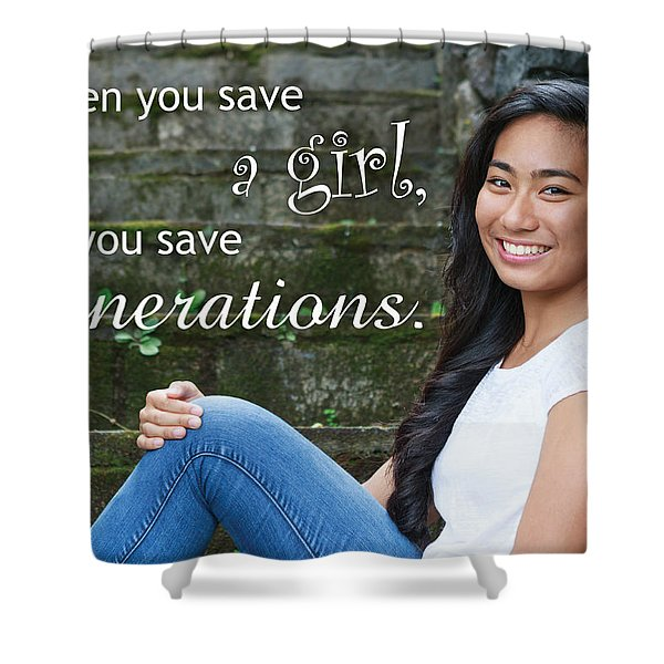 Save A Girl Shower Curtain
