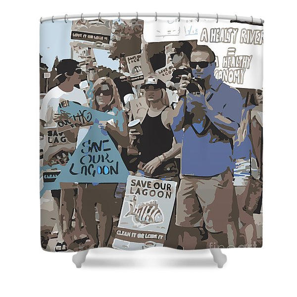 Save Our Lagoon Shower Curtain