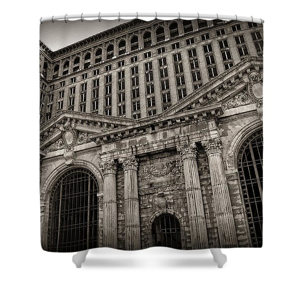 Save The Depot - Michigan Central Station Corktown - Detroit Michigan Shower Curtain