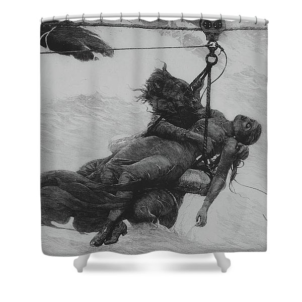Saved, 1889 Shower Curtain