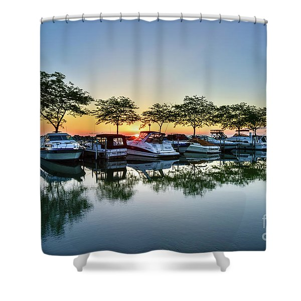 Sawmill Creek Morning Shower Curtain