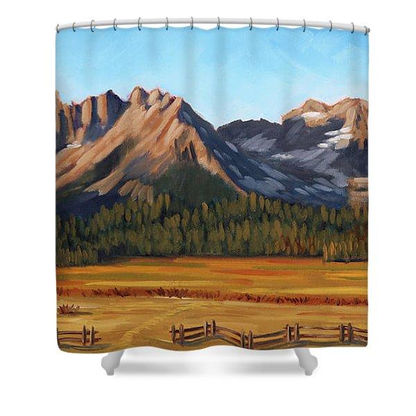 Sawtooth Mountains - Iron Creek Shower Curtain