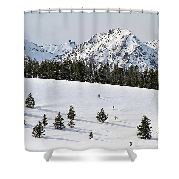 Sawtooth Wilderness Central Idaho Shower Curtain