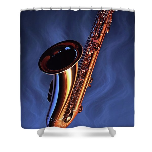 Sax Appeal Shower Curtain