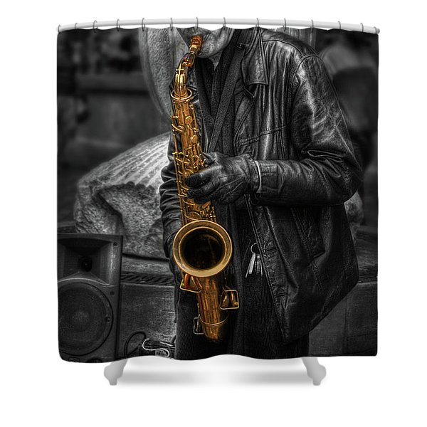 Sax Love Shower Curtain