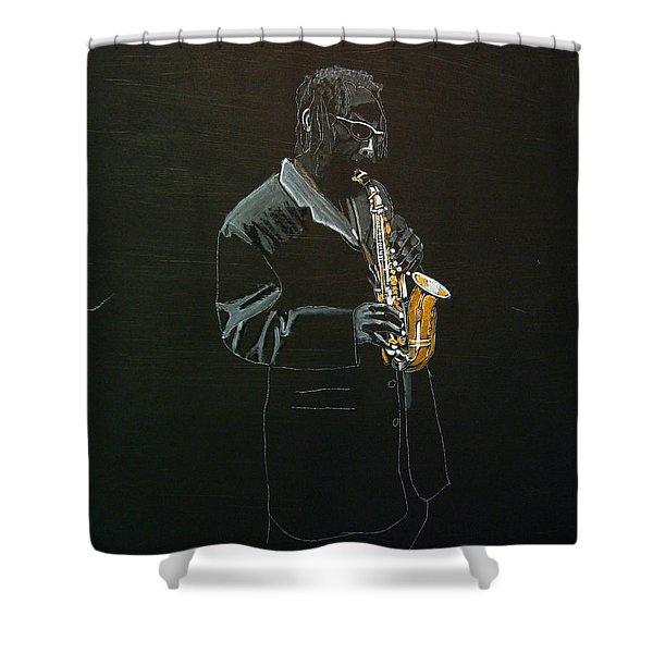 Sax Player Shower Curtain
