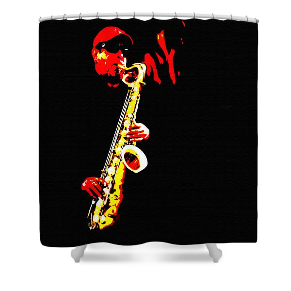 Sax Tribute Shower Curtain