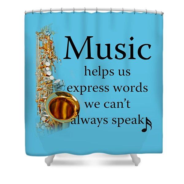 Saxophones Express Words Shower Curtain