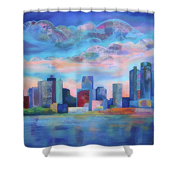 Say Nice Things About Detroit Shower Curtain