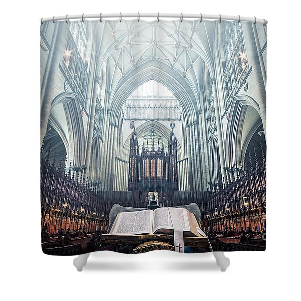 Say Your Prayers Shower Curtain