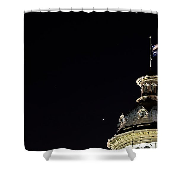 Sc State House Dome And Conjunction Shower Curtain