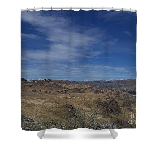 Shower Curtain featuring the photograph Scablands At Grand Coulee by Charles Robinson