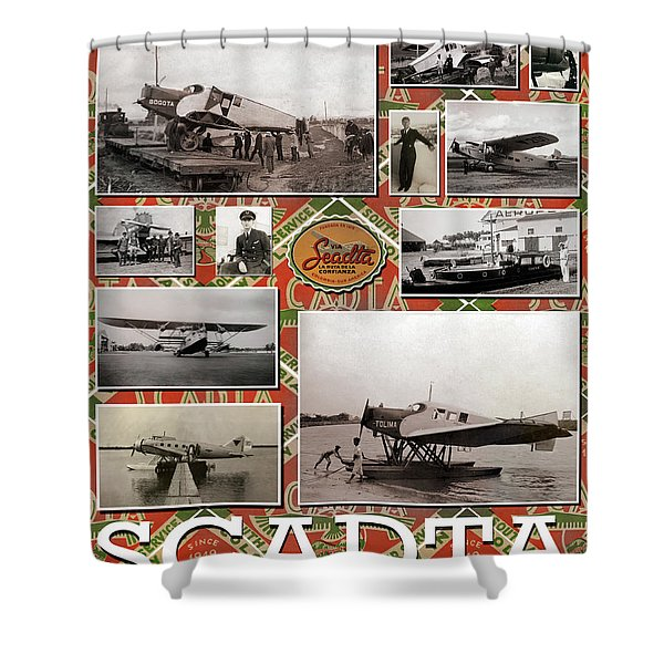 Scadta Airline Poster Shower Curtain