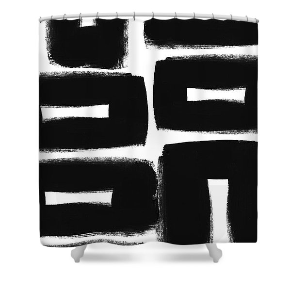 Scandi Boxes 2- Art By Linda Woods Shower Curtain
