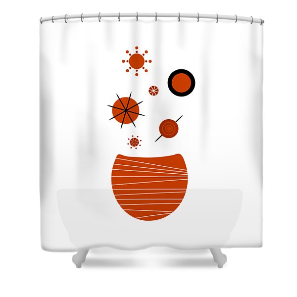 - Scandinavian Floral Shower Curtain by Frank Tschakert