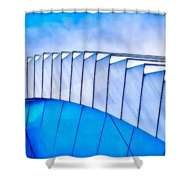 Scaped Glamour Shower Curtain