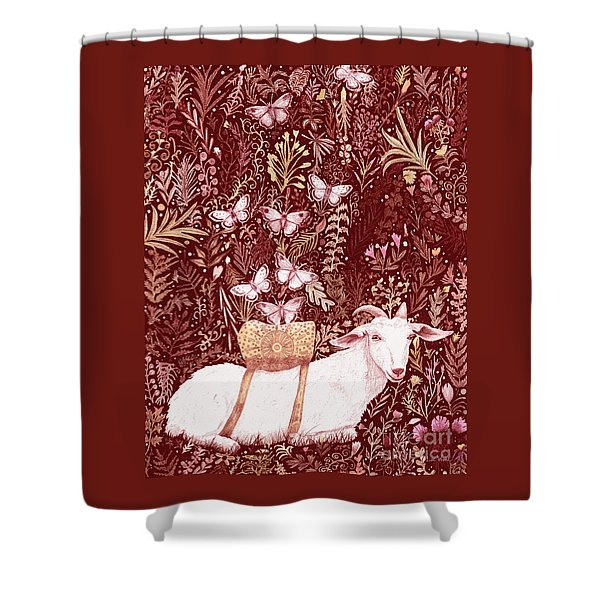 Scapegoat Healing Tapestry Print Shower Curtain