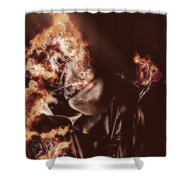 Scarecrow Of Shrovetide Shower Curtain