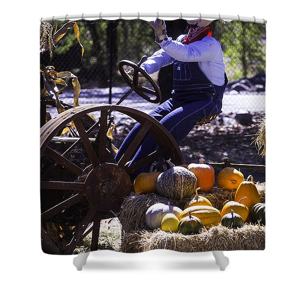 Scarecrow On Tractor Shower Curtain